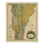 Vermont, from actual Survey - Vintage 1814 Map
