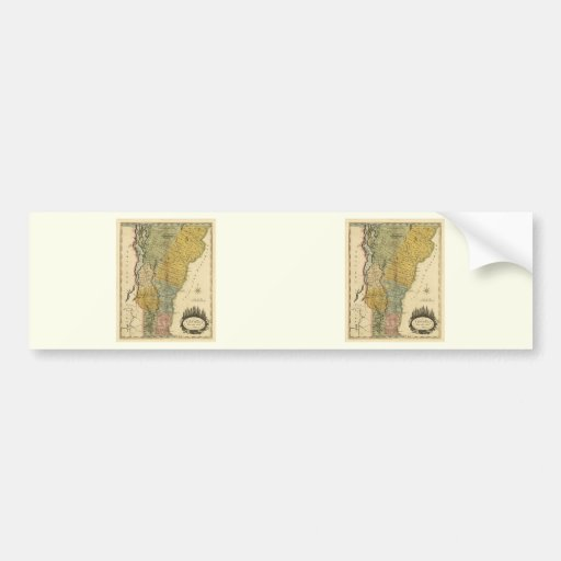 Vermont, From actual Survey - Vintage 1814 Map Bumper Stickers