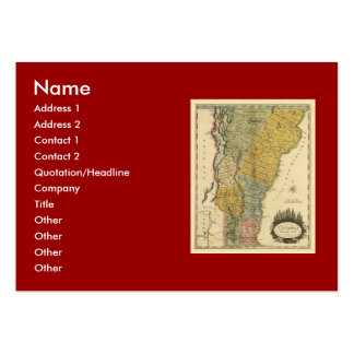 Vermont, From actual Survey - Vintage 1814 Map Pack Of Chubby Business Cards