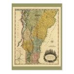Vermont, from actual Survey - Vintage 1814 Map Postcard