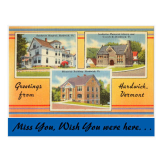 Vermont, Greetings from Hardwick Postcard