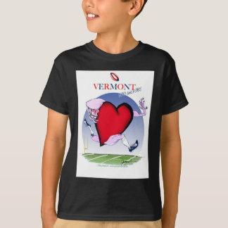 Vermont head heart, tony fernandes T-Shirt
