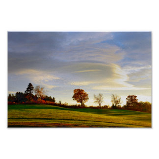 Vermont Hilltop sunrise, Autumn Poster