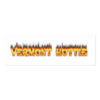 Vermont hottie fire and flames pack of skinny business cards