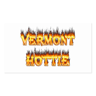 Vermont hottie fire and flames pack of standard business cards