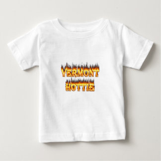 Vermont hottie fire and flames t-shirt