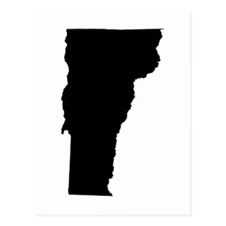 Vermont in Black and White Postcard