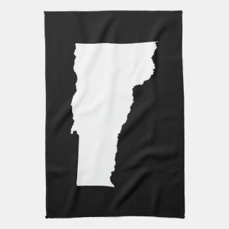 Vermont in White and Black Tea Towel