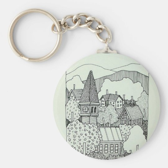 Vermont Inking 41 by Piliero Basic Round Button Key Ring