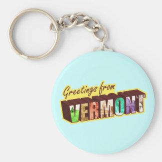 Vermont` Key Ring