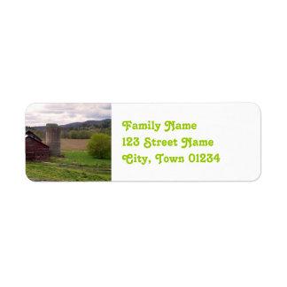 Vermont Return Address Label
