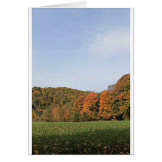 Vermont Landscape Photos 2016 Autumn. Card