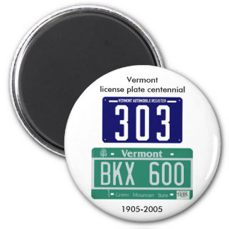 Vermont license plate centennial magnets