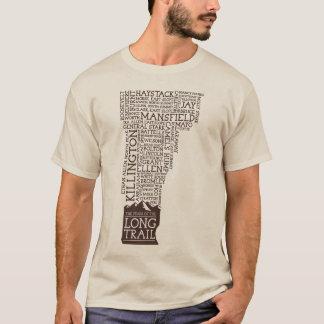 Vermont Long Trail Long Sleeve T-Shirt(Brown Logo) T-Shirt