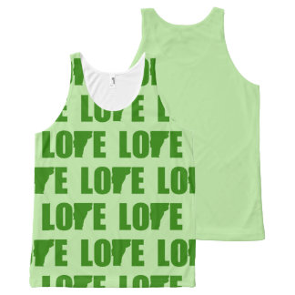 Vermont Love All-Over Print Tank Top Green