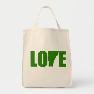 Vermont Love Grocery Tote Bag Reusable
