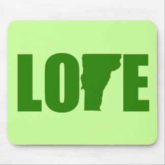 Vermont Love Mousepad - Green Background