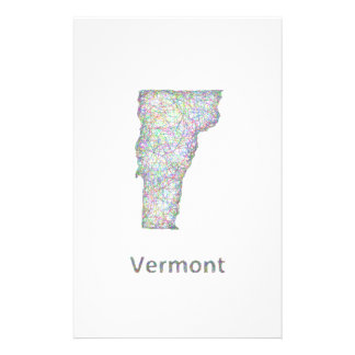 Vermont map 14 cm x 21.5 cm flyer