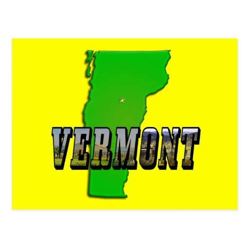 Vermont Map and Picture Text