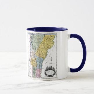 Vermont Map and State Flag Mug