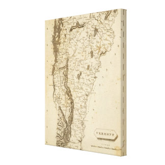 Vermont Map by Arrowsmith Canvas Print