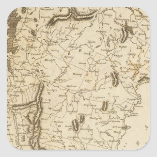Vermont Map by Arrowsmith Square Sticker