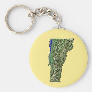 Vermont Map Keychain