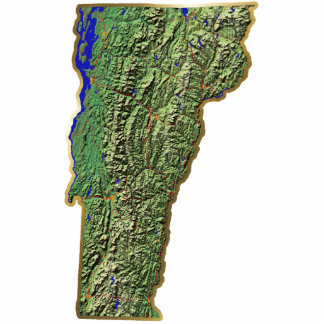 Vermont Map Magnet Cut Out