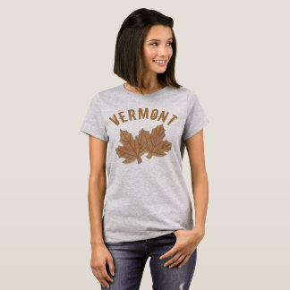 Vermont Maple Leaf Leaves Sugar Candy VT Foodie T-Shirt