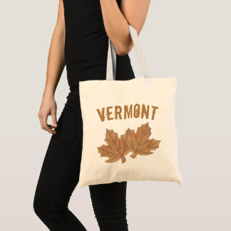 Vermont Maple Leaf Leaves Sugar Candy VT Foodie Tote Bag
