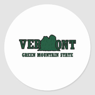 Vermont Mountains Classic Round Sticker