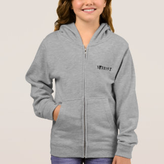 Vermont Name with State Shaped Letter Hoodie