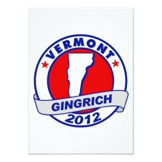 Vermont Newt Gingrich Invitation