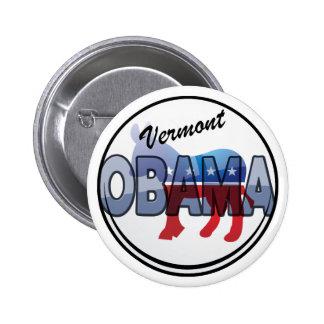 Vermont Obama Democrat Design 6 Cm Round Badge