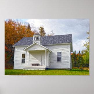 Vermont One Room Schoolhouse Poster