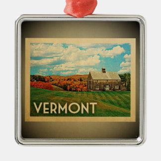 Vermont Ornament Vintage Travel