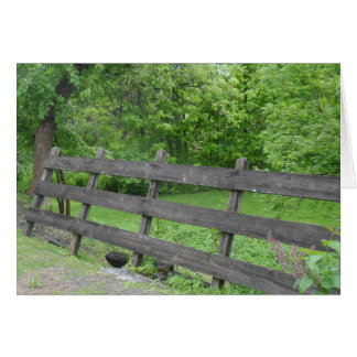 Vermont Picket Fence Note Card