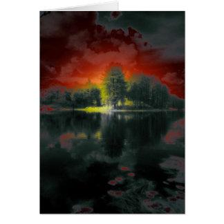 Vermont pond greeting card