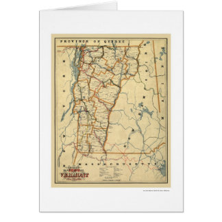 Vermont Railroad & Town Map 1896 Card