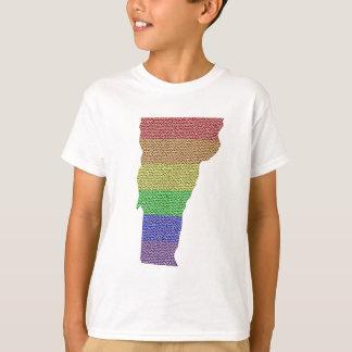 Vermont Rainbow Pride Flag Mosaic For Kids Shirt