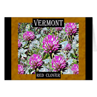 Vermont Red Clover Card