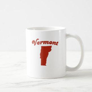 VERMONT Red State Basic White Mug