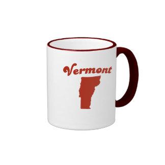 VERMONT Red State Ringer Mug