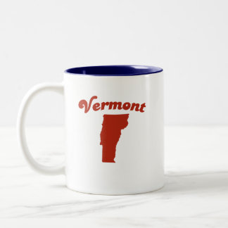 VERMONT Red State Two-Tone Mug