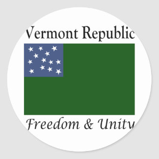 Vermont Republic Classic Round Sticker