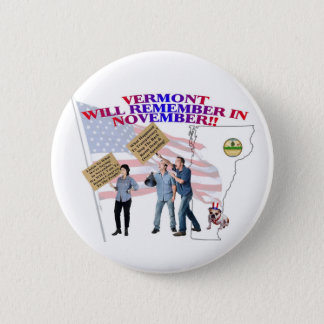 Vermont - Return Congress to the People! 6 Cm Round Badge