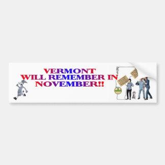 Vermont - Return Congress To The People!! Bumper Sticker