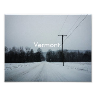 Vermont Road Poster