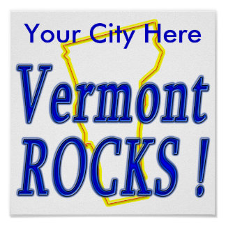 Vermont Rocks ! Print