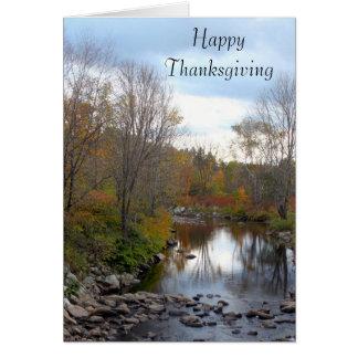 Vermont Rocky Stream 7863 Thanksgiving Card